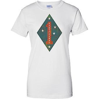 1st Marine Division USMC - Guadalcanal - Military Insignia - Ladies T Shirt
