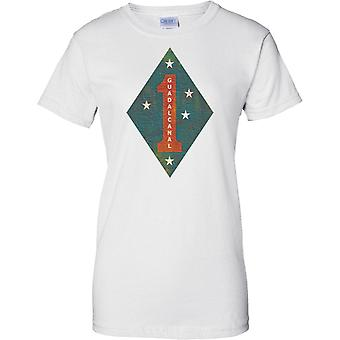 1st marine Division USMC - Guadalcanal - militaire insignes - dames T Shirt