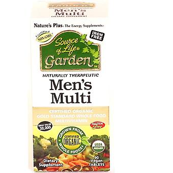Natures Plus  Source Of Life Garden Mens Multi (90 Vegan Tablets)