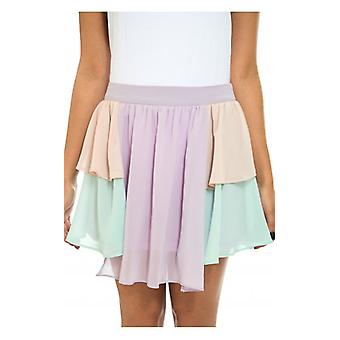 The Fashion Bible Multicoloured Layered Chiffon Skirt
