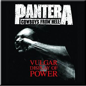 Pantera Fridge Magnet Vulgar display of power new Official 76mm x 76mm