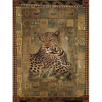Leopard Poster Print by Rob Hefferan (16 x 20)