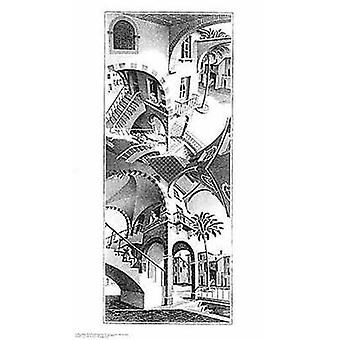 High and Low - MC Escher Poster Poster Print