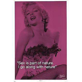 Marilyn Monroe - Sex iQuote Poster Poster Print