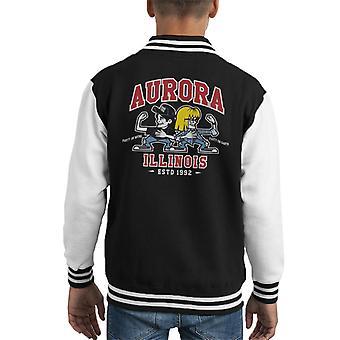Waynes World Party time Aurora Illinois Kid's Varsity Jacket