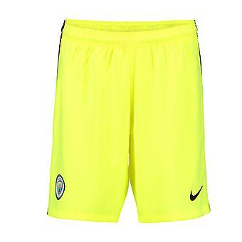 2016-2017 Man City Home Nike Goalkeeper Shorts (Volt) - Kids