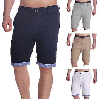 Men's Bermuda of short Chino shorts Chinoshorts stretch karierter hem summer