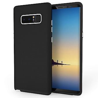 Samsung Galaxy Note 8 Textured Hybrid Case - Black