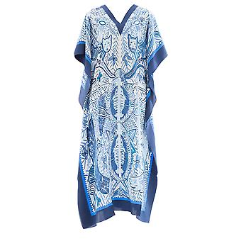 Dianora Salviati ladies DRS02CREBLUE Blau silk dress