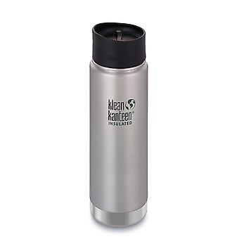 Klean Kanteen 592ml Wide Vacuum Insulated w/Caf� Cap 2.0 (Brushed Stainless)