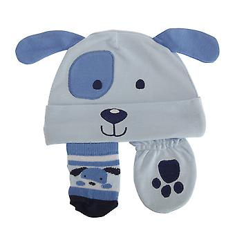 Nursery Time Baby Boys 3 Piece Dog Design Gift Set