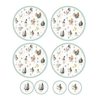 Pimpernel Wrendale Designs Set of 4 Round Placemats & Coasters