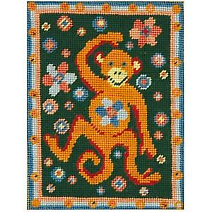 Martha's Monkey Needlepoint Canvas