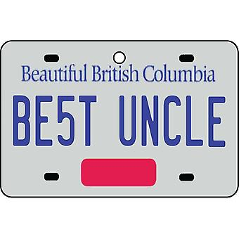 BRITISH COLUMBIA - Best Uncle License Plate Car Air Freshener