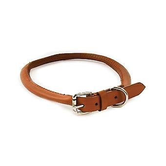 Round Leather Collar Tan 45cmx8mm