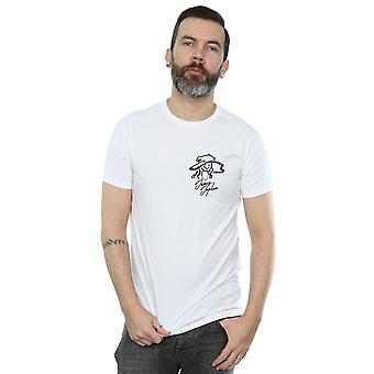 Janis Joplin Men's Outline Sketched T-Shirt
