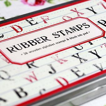 Cavallini Vintage Style Rubber Stamps Alphabet Uppercase