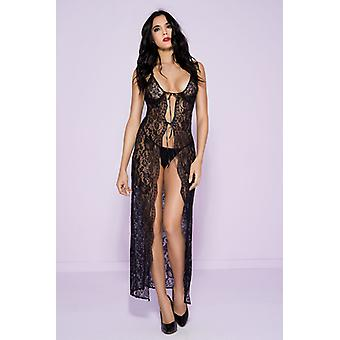 Long Lace Dress With Ribbons