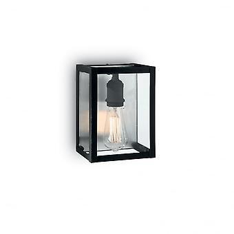Ideal Lux Igor Black Exterior Wall Glass Lantern Open Box Design