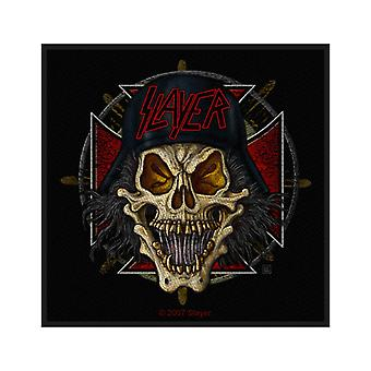 Slayer Patch soldier skull cross band logo new Official black Woven