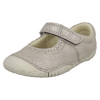 Girls Startrite Casual Shoes Cruise - Silver Nubuck - UK Size 4F - EU Size 20 - US Size 5