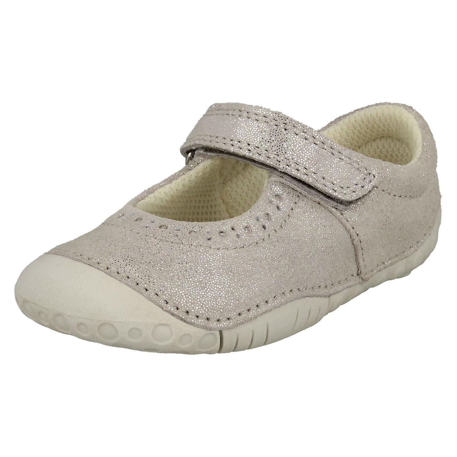 Filles, chaussures occasionnelles Startrite croisière - argent Nubuck - UK Taille 4F - UE Taille 20 - Taille US 5