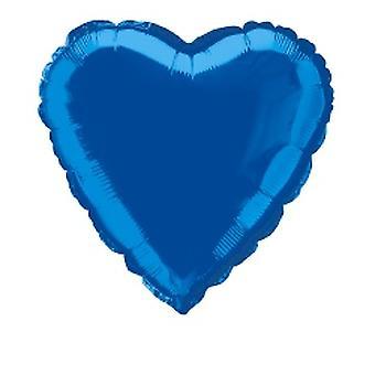 Folie ballon hart metalen Royal blauw