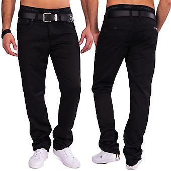 Men Coated Denim Trousers Jared glossy black Slim Fit Club Wear Slim Fit