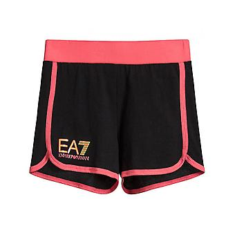 Ea7 Logo Shorts With Piped Trim