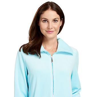 Feraud 3883036-10011 Women's Lagoon Blue Cotton Robe Loungewear Bath Dressing Gown