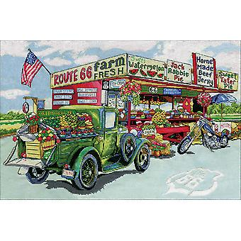 Route 66 Farmstand Counted Cross Stitch Kit-15