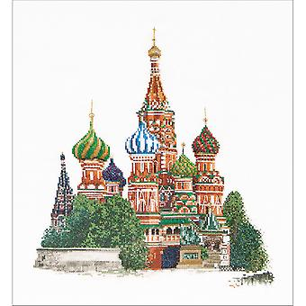 St. Basil's Cathedral Moscow On Aida Counted Cross Stitch Ki-13.5