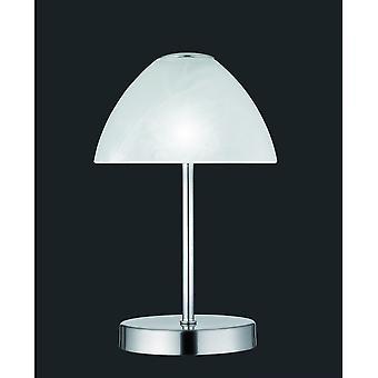 Trio Lighting Queen Modern Nickel Matt Metal Table Lamp