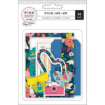 Paige Evans Pick Me Up Ephemera Cardstock Die-Cuts 40/Pkg-W/Gold Foil
