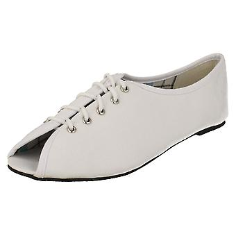 Ladies Spot On Casual Canvas Shoes F0346