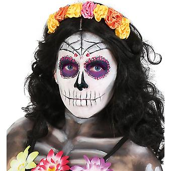 Headband Mexican dead day day of the dead accessory flower yellow pink ornge