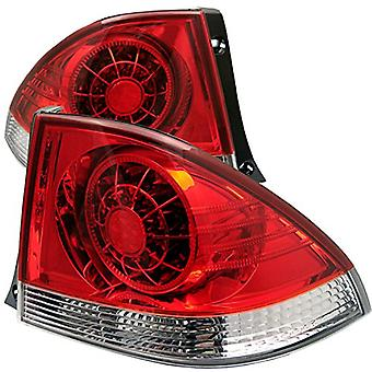 Spyder Auto ALT-YD-LIS300-LED-RC Lexus IS 300 Red/Clear LED Tail Light