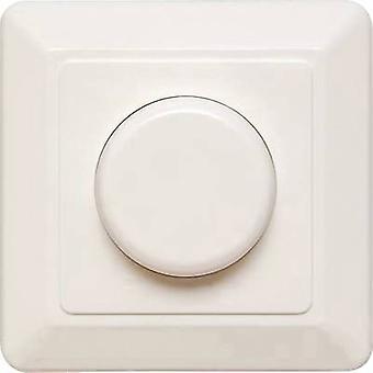 Ehmann T46.03 Flush-mount dimmer Suitable for light bulbs: LED bulb, Energy saving bulb, Light bulb, Halogen lamp White