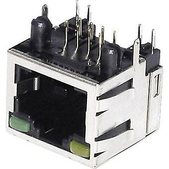 Modulära monterade socket Socket, horisontella mount M8L1G1 metall econ ansluta M8L1G1 1 dator