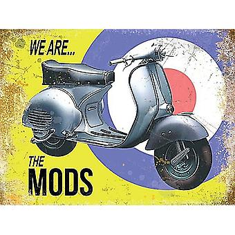 Vespa We Are The Mods Small Metal Sign 200Mm X 150Mm