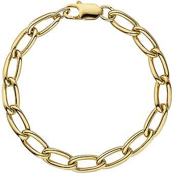 925 pulsera de plata oro 19 cm chapado en oro de pulsera de armadura