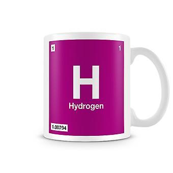Wetenschappelijke afgedrukt mok Featuring Element symbool 001 H - waterstof