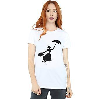 Disney vrouw Mary Poppins vliegen silhouet Boyfriend Fit T-Shirt