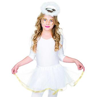 Angel set 2 parts. Kids headband with Halo Angel Wings accessories Carnival Angel costume