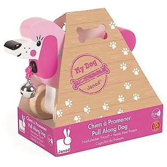 Janod Pull Along Poodle Wooden toy