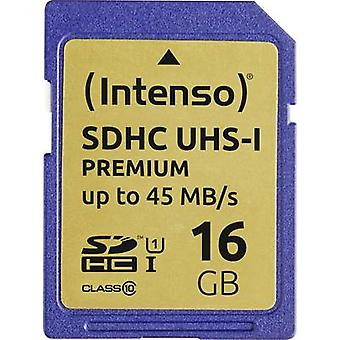 Intenso Premium SDHC card 16 GB Class 10, UHS-I