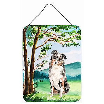 Under the Tree Australian Shepherd Wall or Door Hanging Prints