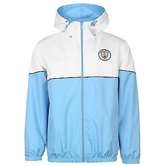 Source Lab Mens Manchester City Shower Jacket Rain Coat Top Breathable Hooded