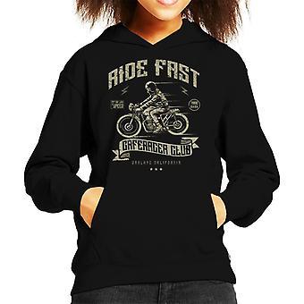 Felpa con cappuccio da corsa veloce moto Club Kid
