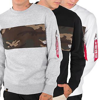 Alpha industries men's sweatshirt Camo bar